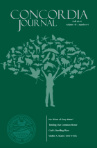 Fall 2015 Concordia Journal