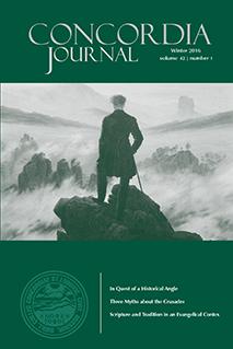 Concordia Journal, Winter 2016