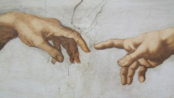 Michelangelo creation hands