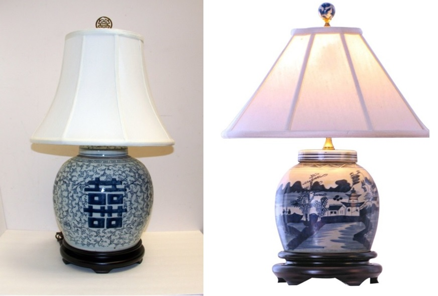 Blue and white lamps 2