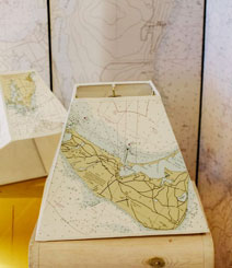 We can create a lampshade with any chart, map or print you choose.