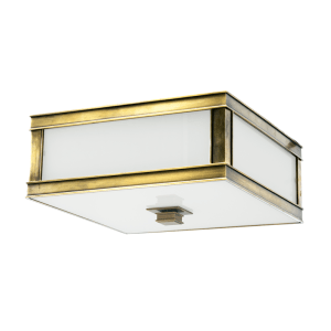 4210-AGB_Hudson Valley Preston Single Light Flush Mount Ceiling Fixture in an Aged Brass Finish