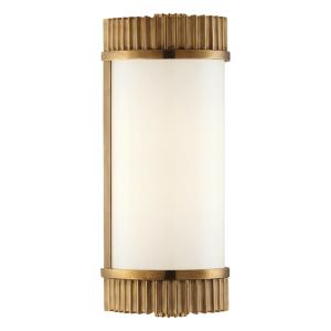 561-AGB_Hudson Valley Benton Single Light Light Bar in an Aged Brass Finish - ADA