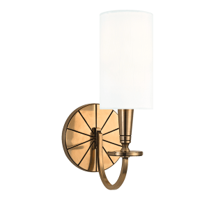 8021-AGB_Hudson Valley Mason Single Light Wall Sconce in an Aged Brass Finish