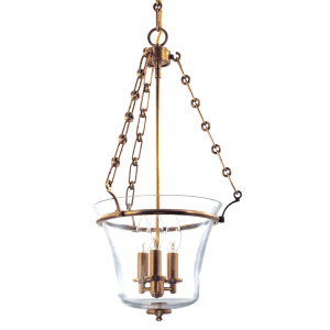 831-AGB_Hudson Valley Eaton 3-Light Pendant in an Aged Brass Finish
