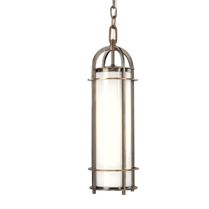 8531-HB_Hudson Valley Portland Single Light Pendant in Opal Glass with an Historic Bronze Finish
