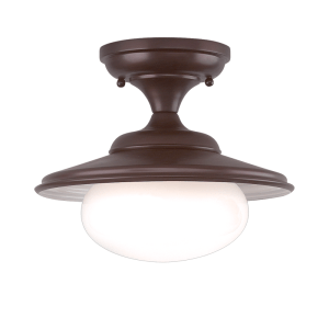 9101-OB_Hudson Valley Independence Single Light Semi-Flush Mount Ceiling Fixture in an Old Bronze Finish