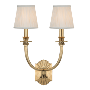 962-AGB_Hudson Valley Alden 2-Light Wall Sconce in an Aged Brass Finish
