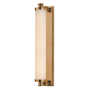 9714-AGB_Hudson Valley Sheridan Single Light LED Bath Light Bar in an Aged Brass Finish