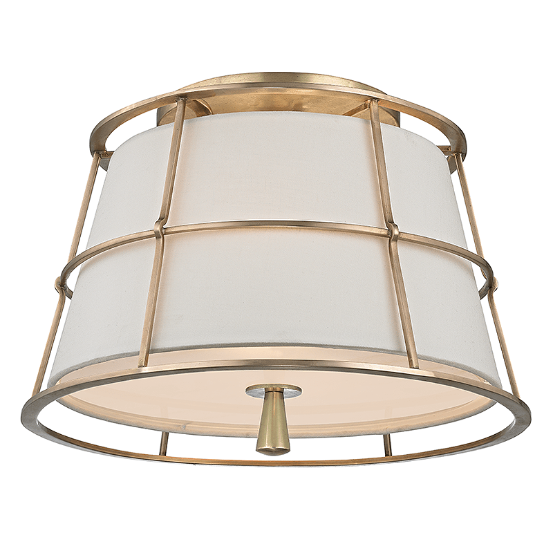 Hudson Valley Savona 2 Light Semi Flush Mount Ceiling Fixture In Brass Bronze And Nickel Finishes