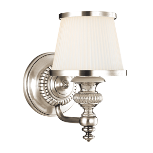 2001-PN_Hudson Valley Milton Single Light Bath Sconce in a Polished Nickel Finish