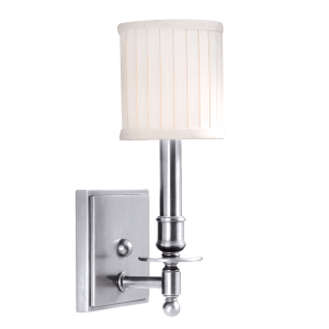 301-PN_Hudson Valley Palmer Single Light Wall Sconce in a Polished Nickel Finish