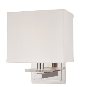 391-PN_Hudson Valley Montauk Single Light Rectangular Wall Sconce in a Polished Nickel Finish