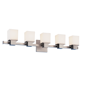 4445-SN_Hudson Valley Milford 5-Light Bath Sconces in a Satin Nickel Finish
