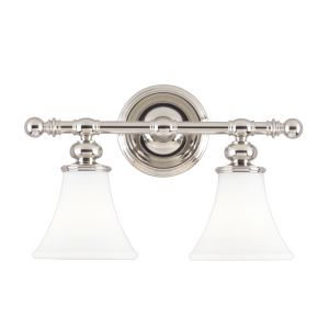 4502-PN_Hudson Valley Weston 2-Light Bath Sconce in a Polished Nickel Finish