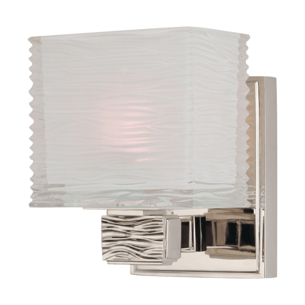4661-PN_Hudson Valley Hartsdale Single Light Bath Sconce in a Polished Nickel Finish