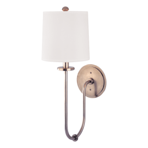 511-HN_Hudson Valley Jericho Single Light Wall Sconce in an Historic Nickel Finish