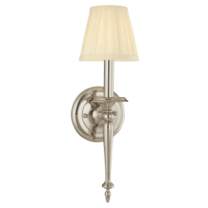 5201-PN_Hudson Valley Jefferson Single Light Wall Sconce in a Polished Nickel Finish