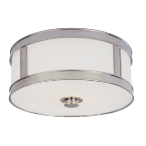 5513-PN_Hudson Valley Patterson 2-Light Flush Mount Fixture in a Polished Nickel Finish