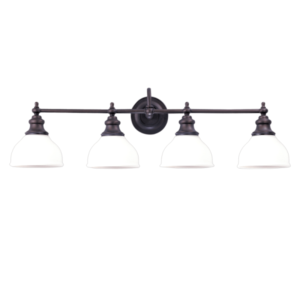 5904-OB_Hudson Valley Sutton 4-Light Bath Sconce with Opal Glass Lampshades and Bronze Accents