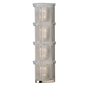 5994-PN_Hudson Valley Blythe 4-Light Light Bar in Textured Glass and a Polished Nickel Finish