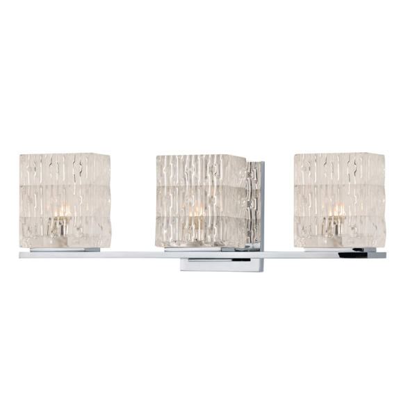 6243-PC_Hudson Valley Torrington 3-Light Bath Sconce in Prismatic Glass and Polished Chrome