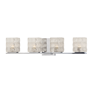 6244-PC_Hudson Valley Torrington 4-Light Bath Sconce in Prismatic Glass and Polished Chrome