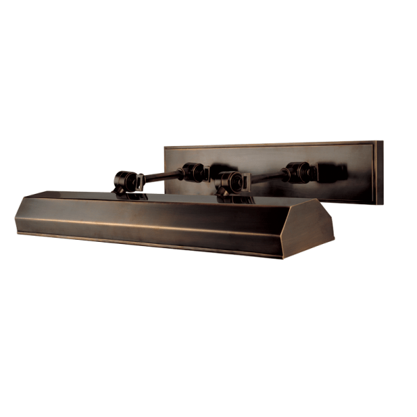 """7023AGB Hudson Valley Woodbury 23"""" Picture Light in a Distressed Bronze Finish"""