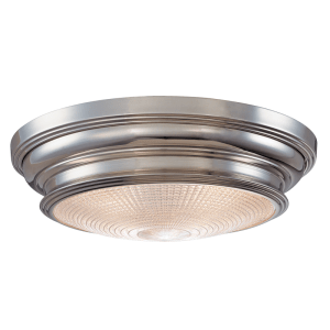 7516-PN_Hudson Valley Woodstock 3-Light Flush Mount Fixture in a Polished Nickel Finish