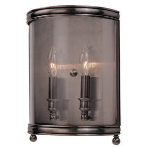 7802-HN_Hudson Valley Larchmont 2-Light Wall Sconce in an Historic Nickel Finish