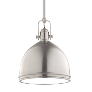 8008-SN_Hudson Valley Marion Single Light Pendant in a Satin Nickel Finish