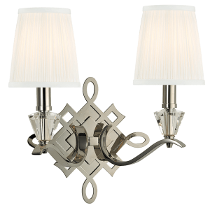 8182-PN_Hudson Valley Fowler 2-Light Wall Sconce in a Polished Nickel Finish