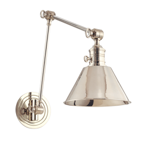 8323-PN_Hudson Valley Garden City Single Light Wall Swing Arm Lamp in a Polished Nickel Finish