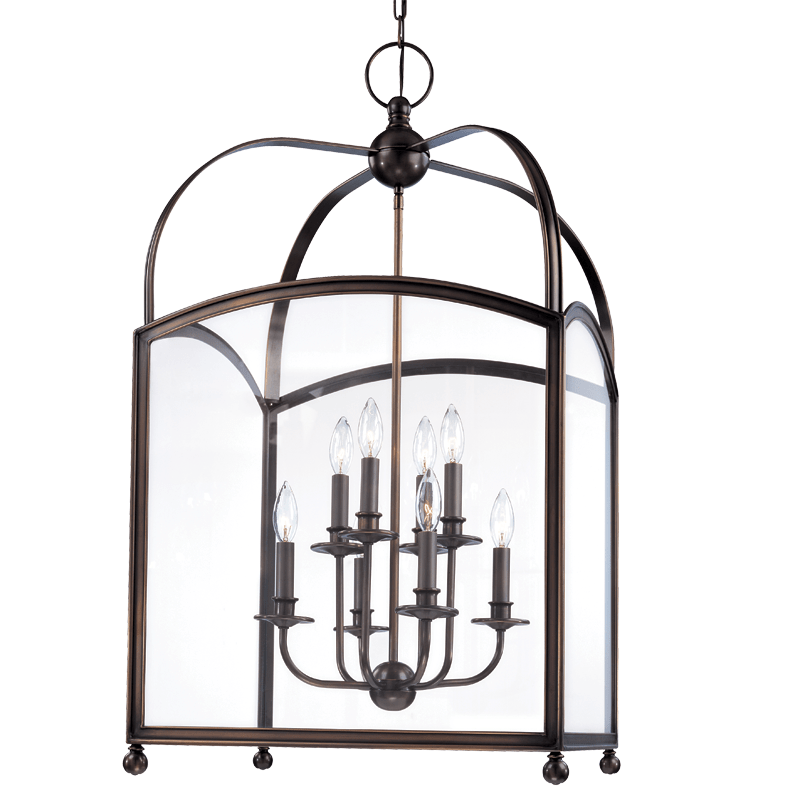 8420-DB_Hudson Valley Millbrook 8-Light Pendant in a Distressed Bronze Finish