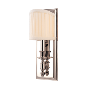 881-PN_Hudson Valley Bridgehampton Single Light Wall Sconce in a Polished Nickel Finish