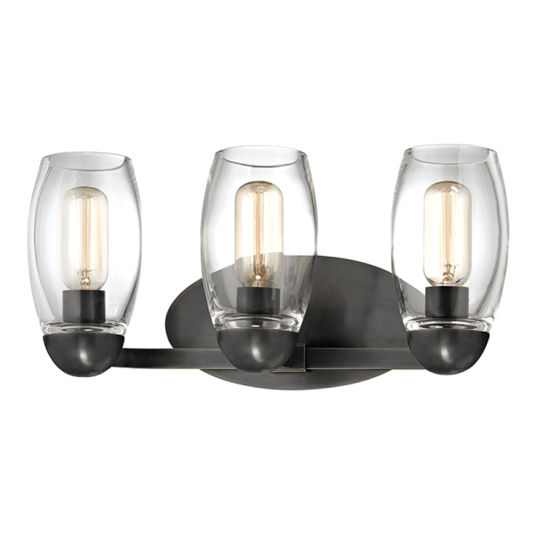8843-OB_Hudson Valley Pamelia 3-Light Wall Sconce and Bathroom Wall Fixture in Blown Glass and Old Bronze