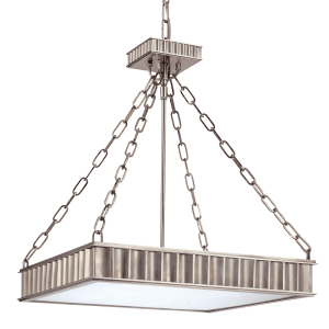 935-HN_Hudson Valley Middlebury 5-Light Square Pendant in an Historic Nickel Finish