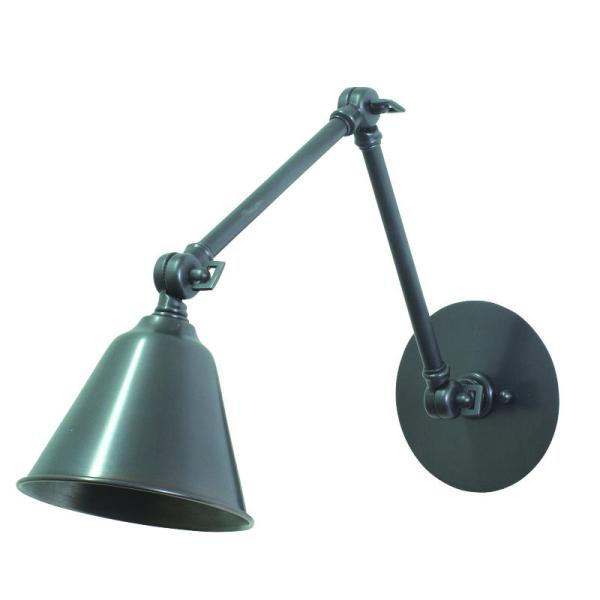 LLED30-OB_House of Troy Library Adjustable LED Wall Swing Arm Lamp in an Old Bronze Finish