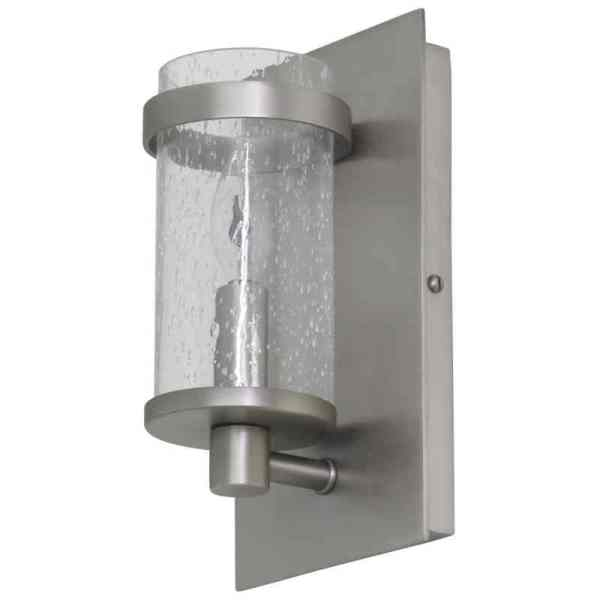 LS206-SP_House of Troy Lake Shore Single Light Wall Sconce in Seeded Glass and a Satin Pewter Finish