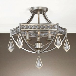22275_Uttermost Tamworth 3-Light Semi-Flush Mount Ceiling Fixture in a Silver Finish