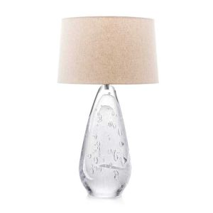1327-Simon Pearce Pure-Lyra-Blown-Glass-Table-Lamp