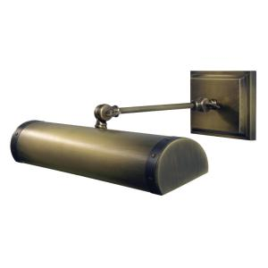 """dstledz42-abmb_House of Troy 42"""" Direct Wire Steamer LED Picture Light in an Antique Brass Finish with Mahogany Bronze Accents"""