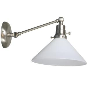 OT675-House of Troy Otil Wall Swing Arm Lamp in Satin Nickel with an Opal Glass Lampshade