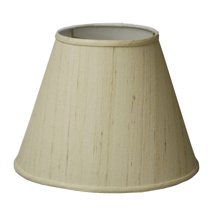 Deep-Empire Hardback Lampshade in Raw Silk