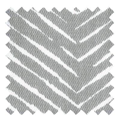 L966 - Gray Twill with Abstract Chevron Pattern