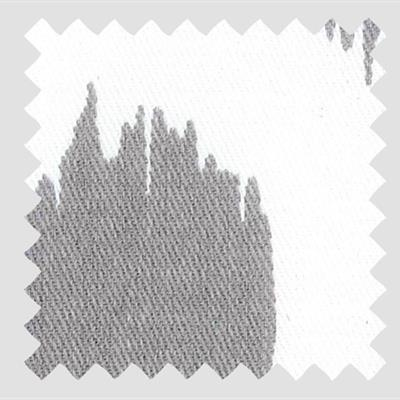 L967 - Gray Abstract Spots on White-Twill