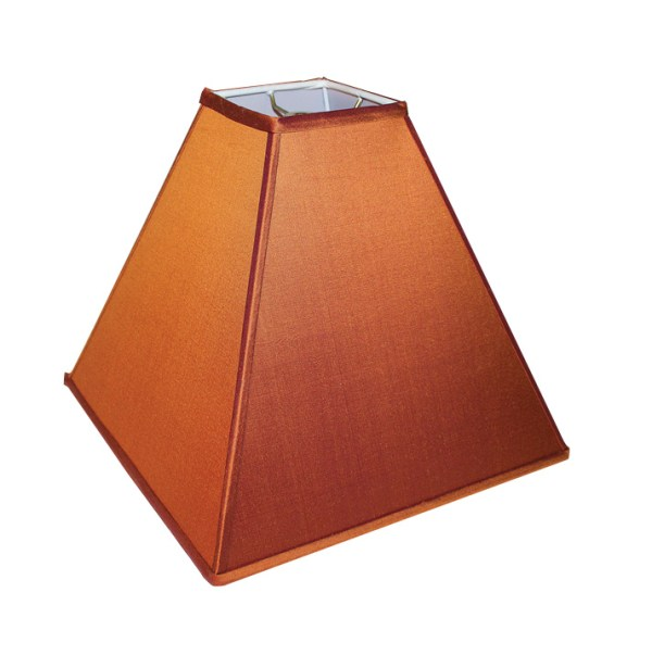 Deep Square Taper Hardback Lampshade in Autumn Silk