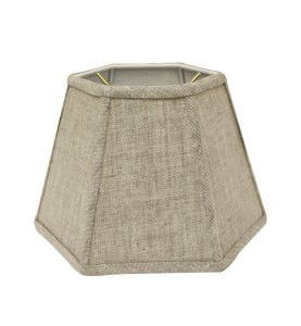 Hexagonal Hardback Lampshade in 528-Oatmeal Linen