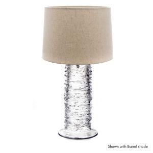 Echo Lake Blown Glass Table Lamp by Simon Pearce