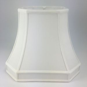 Cut Corner Square Bell Silk Lampshades with a Gallery